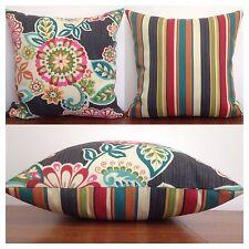 45x45cm Waverly Sun N Shade Indoor/Outdoor Solar Energy/Stripe Cushion Cover