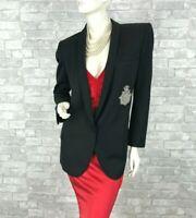 Balmain Paris Runway Auth 100% Wool Blazer Jacket Coat 8 US 44 IT 40 FR M $3,450