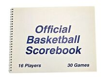 Martin Sports Basketball Scorebook - 30 Games, 16 Players per Team