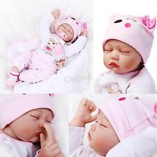 "22"" NPK Solid Silicone Lifelike Baby Doll Preemie Handmade Dolls Gift Toy US"