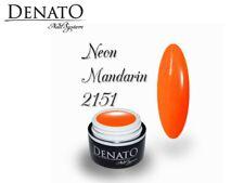 Neon Mandarin 5ml UV LED Colour Gel Nails Perfect Pigmentation Denato UK