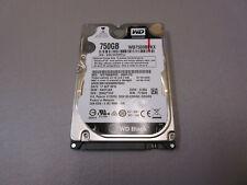 """Western Digital 750GB 7200RPM 2.5"""" SATA Laptop Hard Drive WD7500BPKX"""