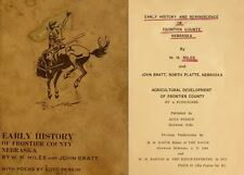 1911 FRONTIER County Nebraska NE, History & Genealogy Ancestry Family DVD B09