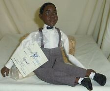 Micha signed Daddys Long Legs African American Black boy resin doll made in Usa