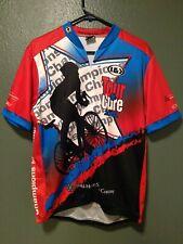 Louis Garneau Pro Jersey Tour de Cure Cycling Full Zipper Maillot Size X-Large