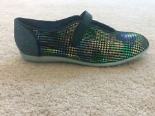 Irregular Choice 'Rumba' (B) Green Flat Slip On Shoes
