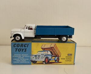 Corgi toys 483 Dodge 'Kew Fargo' Tipper Original Boxed