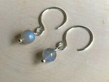 Dainty Round Labradorite Drop Earrings, Sterling  Silver Earrings, Drop Earrings