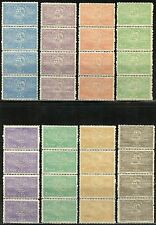 SERBIA SCOTT#79/86 CORONATION OF KING PETER SET OF FOUR IN STRIPS MINT NH