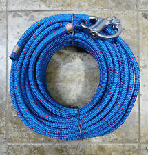 """7/16"""" x 115 ft.Dac/Spectra Halyard,Spliced in Hvy Fixed Bail Shack, Royal Bl/red"""