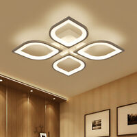Contemporary Led Chandelier Modern Fush Mount Acrylic Ceiling Light Fixture