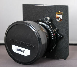 Fujinon T  300mm f8 lens in Copal shutter with Wista lens plate