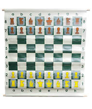 """36"""" Pouch-Style Chess Demonstration Set with Deluxe Carrying Bag - Clear Plastic"""