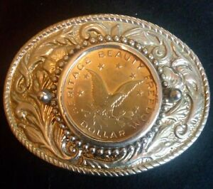 Heritage Beauty Freedom Dollar Belt Buckle