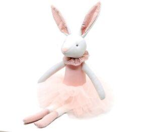 Stuffed Animal Handmade Plush Toy Soft Ballerina Bunny Doll Princess Gift 38 cm