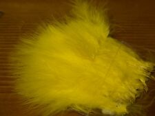 Strung Marabou Blood Quill - Yellow - Fly Tying