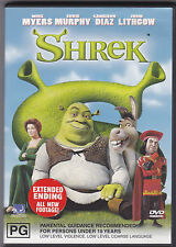 SHREK DVD WITH EXTENDED ENDING & ALL NEW FOOTAGE & BONUS MATERIAL GREAT !!!