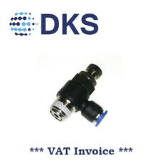 Air Flow Valve Push In Pneum Fittings 3/8 BSPT to 8mm Fitting Speed Contr 001696