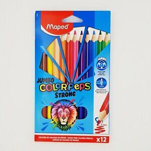 Buntstifte ColorPeps 12 x Jumbo / 12 + 3 DUO Maped / 2x12 Wachsmalstifte