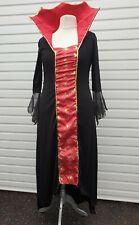 Ladies Wicket Evil Queen, Witch Vampire Long Halloween Fancy Dress Size 16 / 18