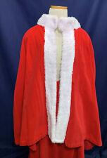 Mrs Claus Costume Christmas Dress Red Velveteen White Faux Fur Skirt Shawl Med/L