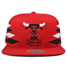 Chicago Bulls SOLID DIAMOND Red Snapback Mitchell & Ness NBA Hat