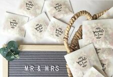 Mini Kit De Confeti boda bolsas de envase: de cristal + Calcomanías + secos Pétalo
