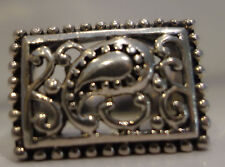 VINTAGE FELIGREE BALI STYLE SQUARE RING AND 925 STERLING SILVER 7.5