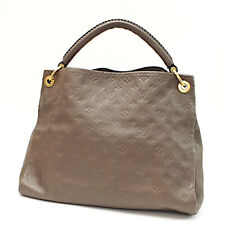 Auth LOUIS VUITTON Monogram Empreinte Artsy MM M94171 Shoulder Bag Brown Leather
