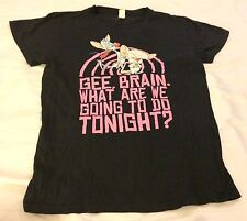 """Pinky & The Brain Black Women's Graphic XL T-Shirt """"What Are We Going To Do..."""""""
