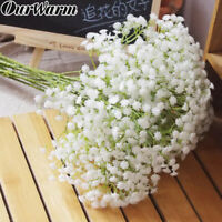 12 Artificial Fake Silk Bouquet Gypsophila Baby's Breath Flower Wedding Home Dec