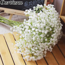 12× Babies Breath Artificial Flowers Fake Gypsophila Wedding Floral Bouquets