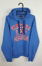 Vintage Mens Azul Retro Deportes Atléticos campeón Overhead Sudadera Con Capucha en muy buena condición Reino Unido M
