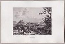 Weinsberg, Weibertreu, Heilbronn - Gesamtansicht - Stahlstich 1862 ***