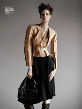 MAISON MARTIN MARGIELA H&M Beige Camel Suede Structured Leather Jacket EUR 40