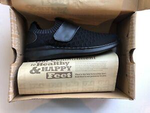 •NWB• Women's Propet TravelBound Strap Sneaker Black Knit Mesh •Size 11 N•