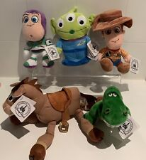 Toy Story 4 X 5 Lot Woody, Buzz Lightyear, Alien, Bullseye, Rex, New With Tags