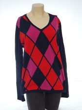 Tommy Hilfiger Multi-Color Lightweight Long Sleeve V Neck Sweater Women's XL NWT
