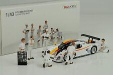 Classic Figuren Pit Crew Set white 6 pcs Diorama Figur Figurines 1:43 TSM