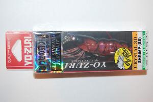 """yo zuri shrimp crystal jerkbait 3d f987-hrs 2 3/4"""" 1/4oz holographic red"""