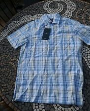 Blue Harbour Mens Shirt New M&S Marks And Spencers S Small Checked Short Sleeves