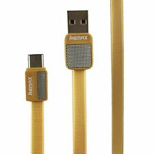 REMAX USB Type C 1m Charging Cable for Bluboo S1 Smartphone Gold Cable