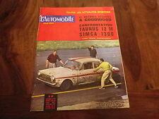 L'AUTOMOBILE magazine 212 DECEMBRE 63 TAUNUS 12M / SIMCA 1300 Essai 12 Anglaises