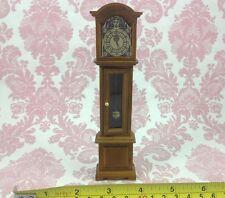Dollhouse Miniature 1:12 Vintage High Wood Floor Clock Decor