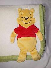 Disney Winnie The Pooh Fleece Baby Blanket Beige 3D Bear 30x40 Lovey Soft HTF