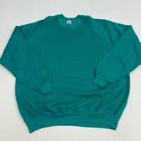Vintage Jerzees Pullover Sweater Mens 4XL Teal Long Sleeve Casual Crewneck 90s
