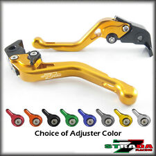 Strada 7 CNC Shorty Adjustable Levers Honda CB599 CB600 HORNET 1998 - 2006 Gold