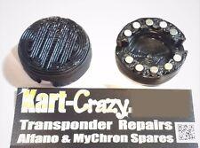 Kart Magnetic Castor & Camber Covers Tony FA Exprit Kosmic OTK - Black