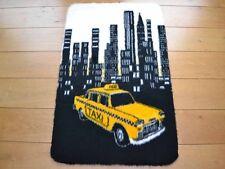 New York City Skyline Yellow Taxi  Rug Fluffy Furry Kids Bedroom Floor Mat Cheap