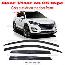 2S Tape Smoke Door Window Vent Visor Deflector â�4pcsâ� Hyundai Tucson 2016-2020 (Fits: Hyundai)